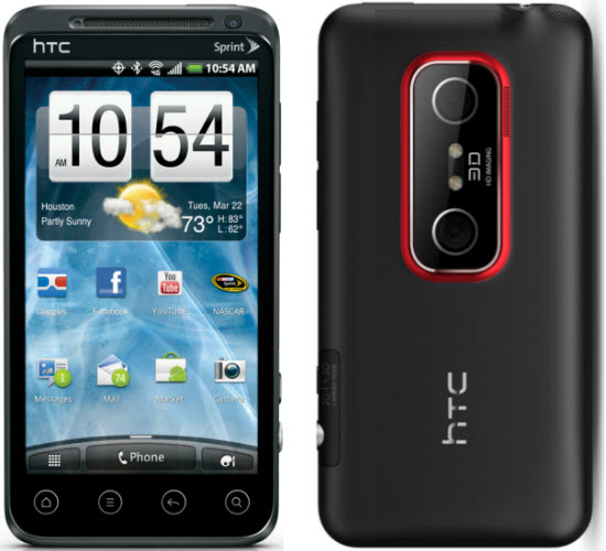 cult of android sprint announces minor update for htc evo 3d rh cultofandroid com Verizon HTC EVO Shift 4G Verizon HTC EVO Shift 4G
