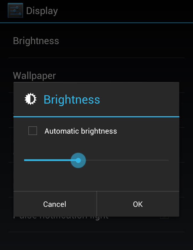 Image result for brightness screen android