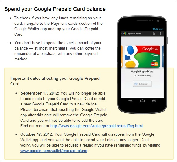 Cult of Android - Google To End Prepaid Card Support For