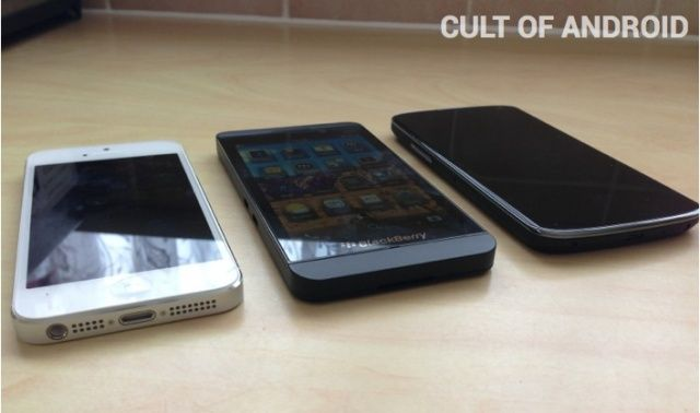 iPhone 5 vs. BlackBerry Z10 vs. Nexus 4