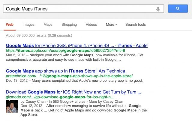 Cult of Android - Google Apparently Ranking iTunes App Links