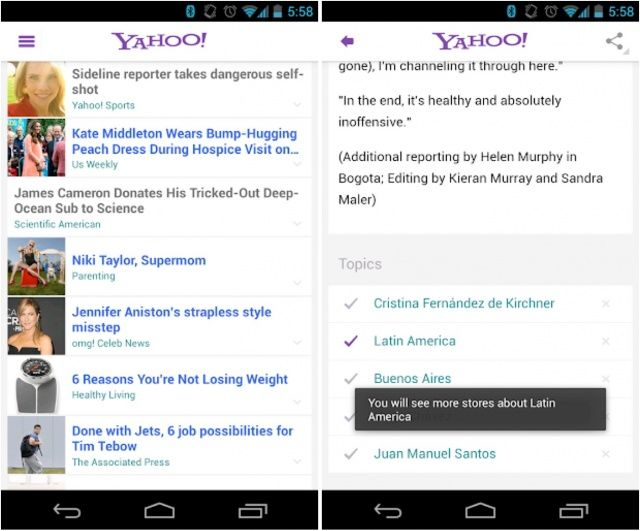Cult of Android - Yahoo! Launches New Android App With