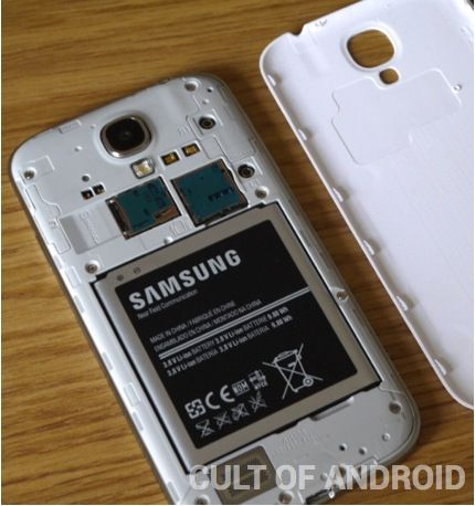 The Galaxy S4 still has its removable back.