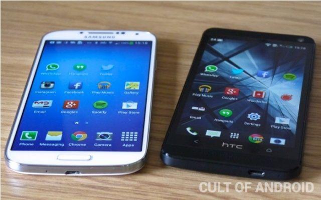 Galaxy S4 vs. HTC One.