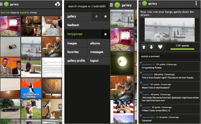 Imgur-Android-screens