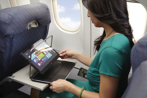 XPS 12 convertible Ultrabook - airplane seat