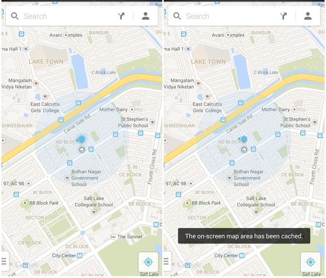 Cult of Android - Save Maps For Offline Use In The New ... Google Maps Android Offline on google docs offline android, google chrome search, google maps android icon, city maps 2go android, google sync android,