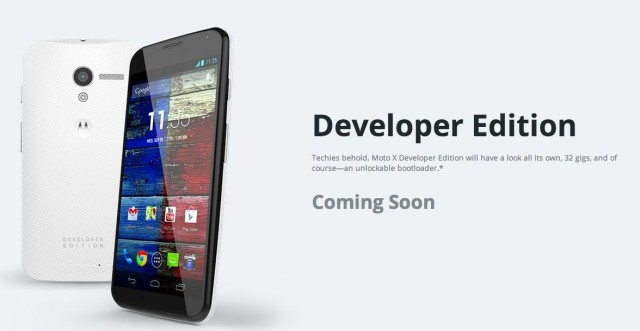 Moto X Developer Edition Coming Soon