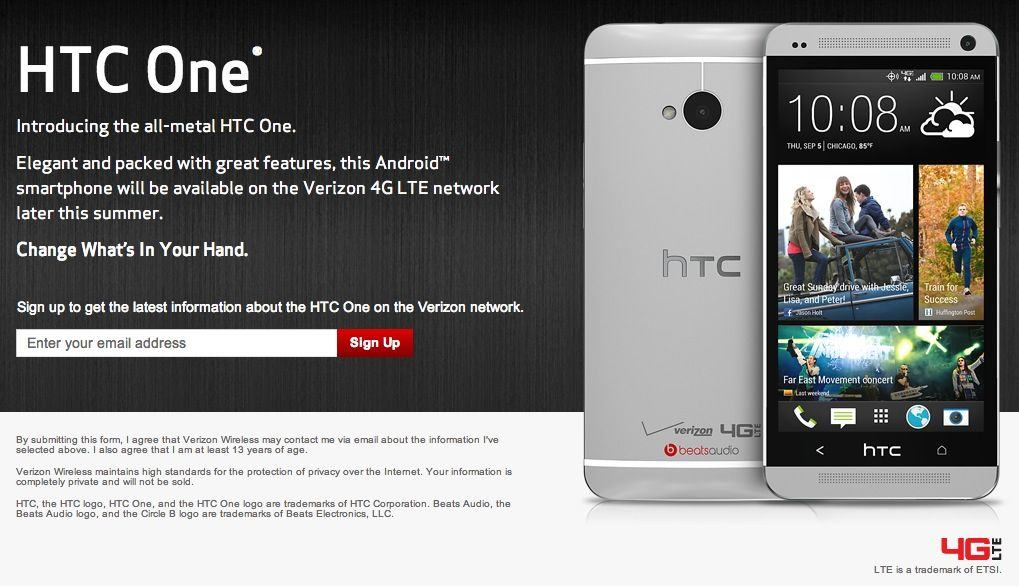 Cult of Android - Want The HTC One On Verizon? Register Your