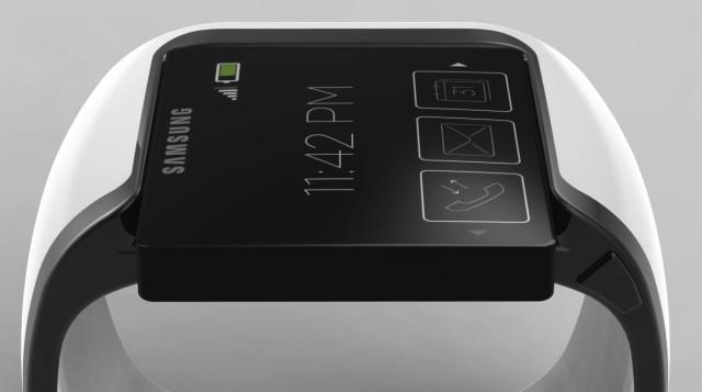 A Samsung smartwatch mockup.