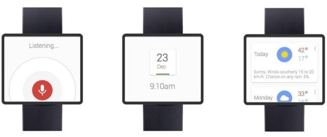 A Google smartwatch concept.