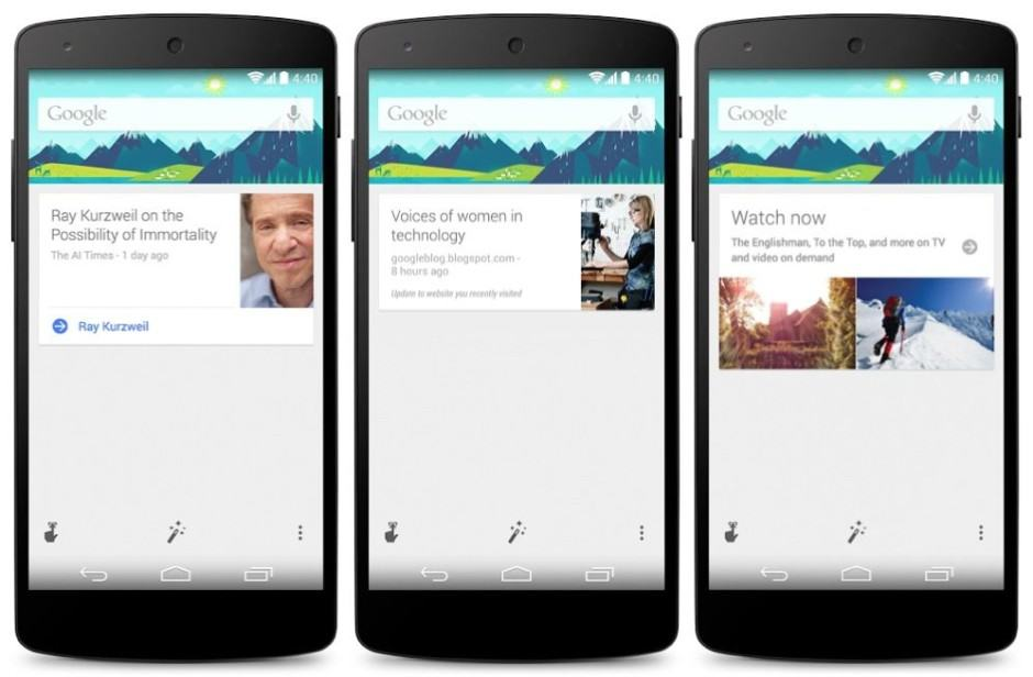 Google Now is in for a makeover. Image: Google
