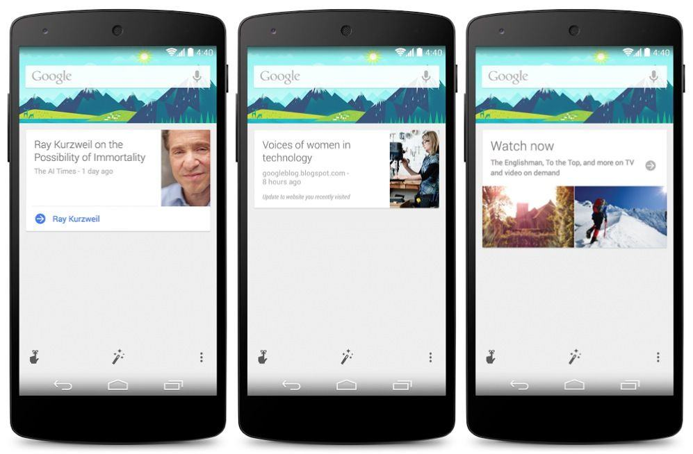 Google Search Update Adds New Google Now Cards & Features
