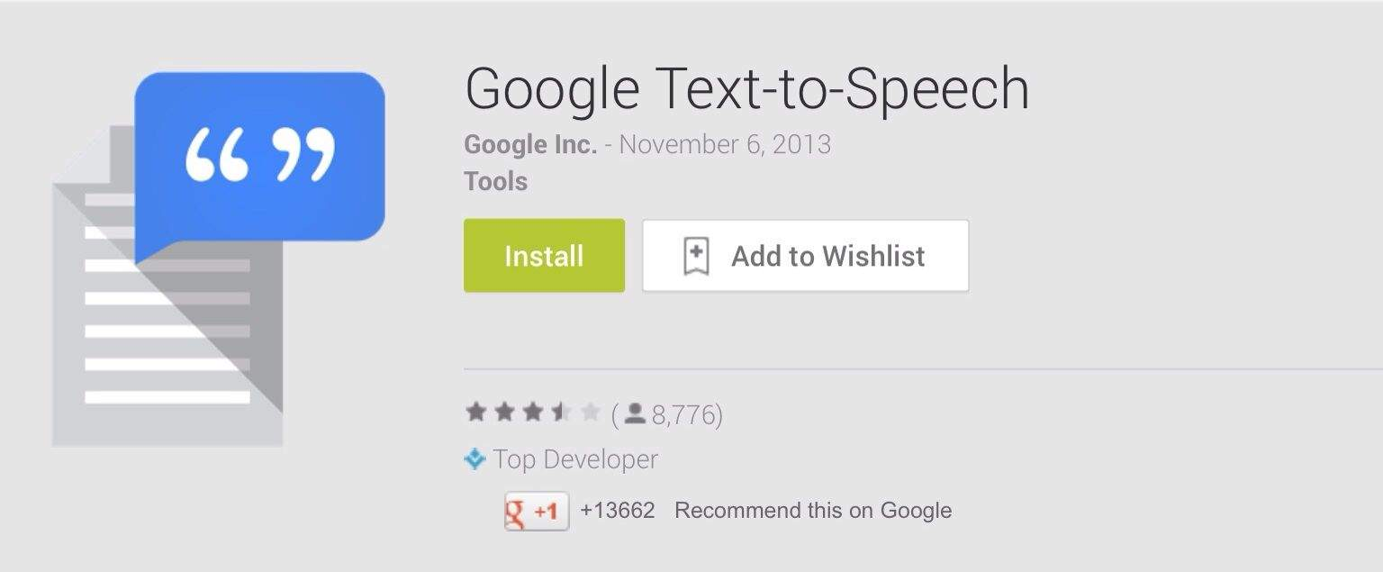 Google Launches New Text to Speech App