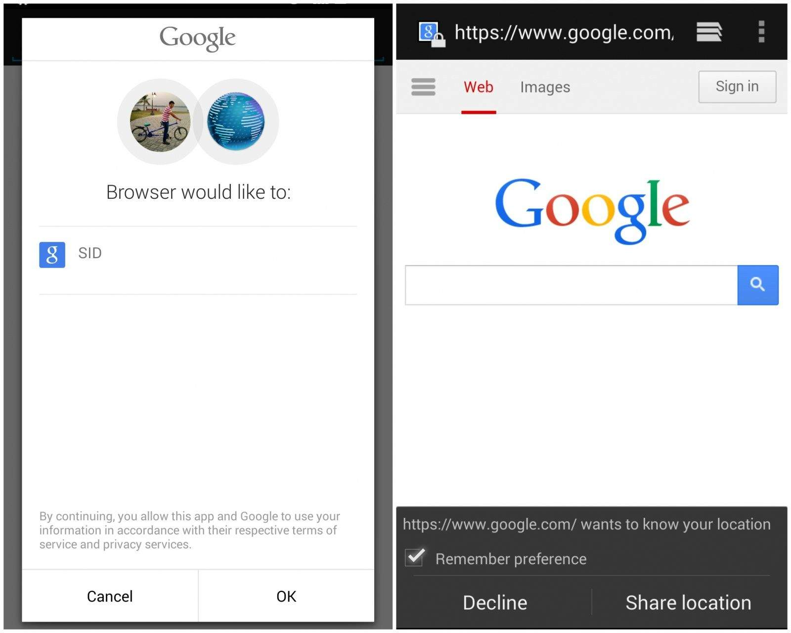 Google Maps in The Web Browser on Your Android