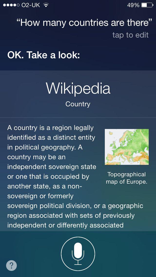 Siri-countries