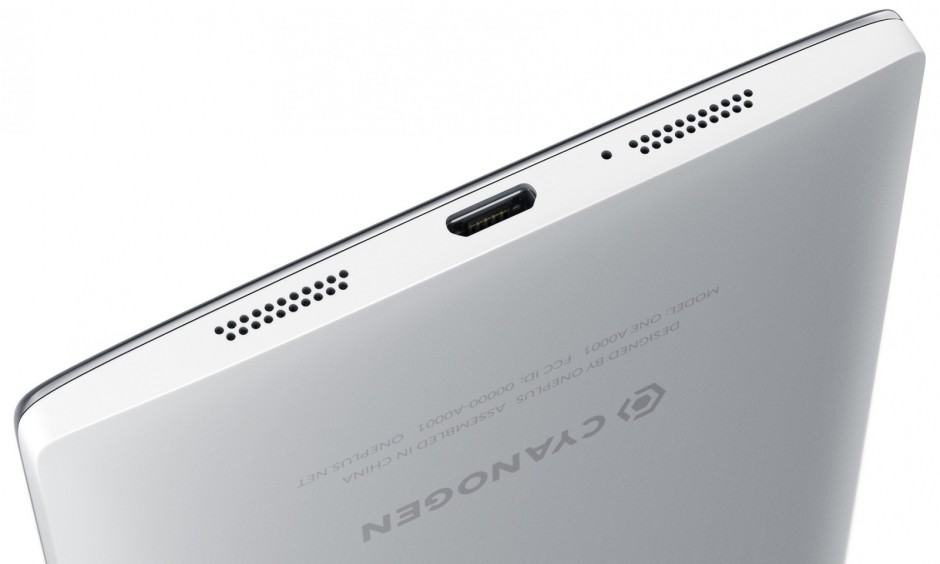The OnePlus One has bottom-facing stereo speakers.
