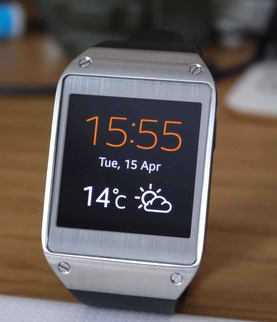 Only Samsung's smartphones are officially compatible with the Galaxy Gear.