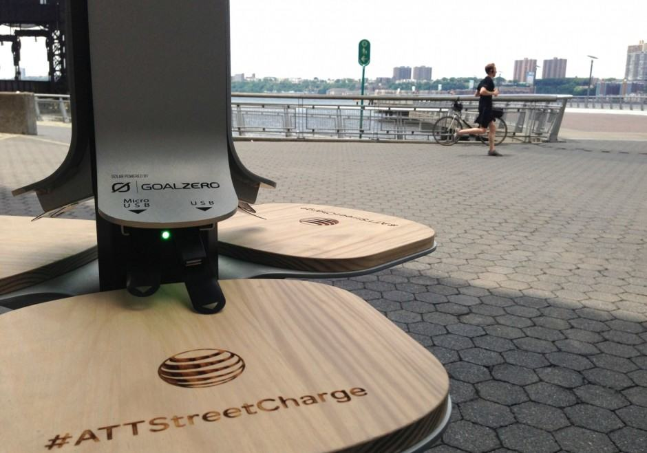 AT&T solar charging stations are reproducing on the streets of New York