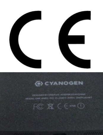 The OnePlus One's CE marking isn't thick enough.