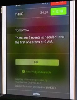 Adding third-party widgets in iOS 8.