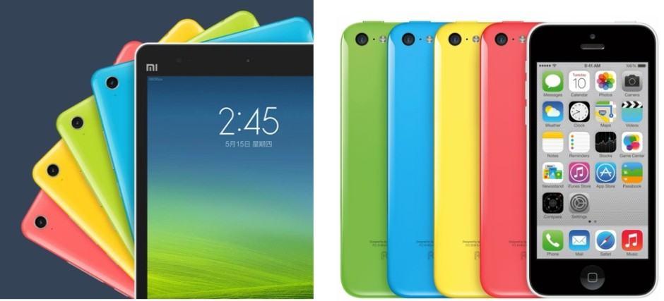 Xioami-Mi-Pad-vs-iPhone-5c