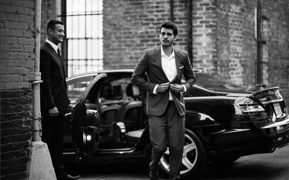 A luxury Uber. Image: Uber Blog.