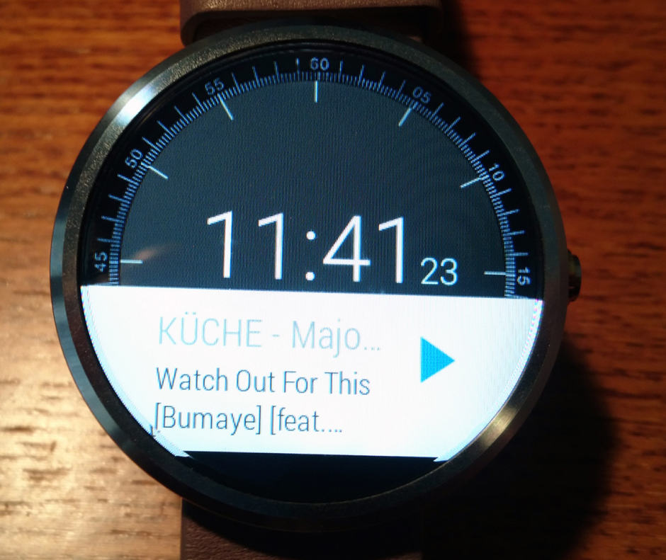 The Sonos remote for Android Wear. Photo: Sonos Forum
