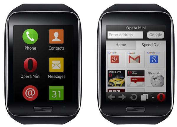 Opera Mini on the Gear S. Image: Opera