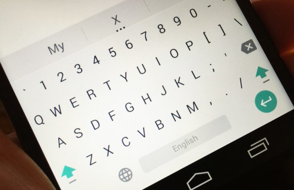 How to add a number row to Google's new Lollipop keyboard