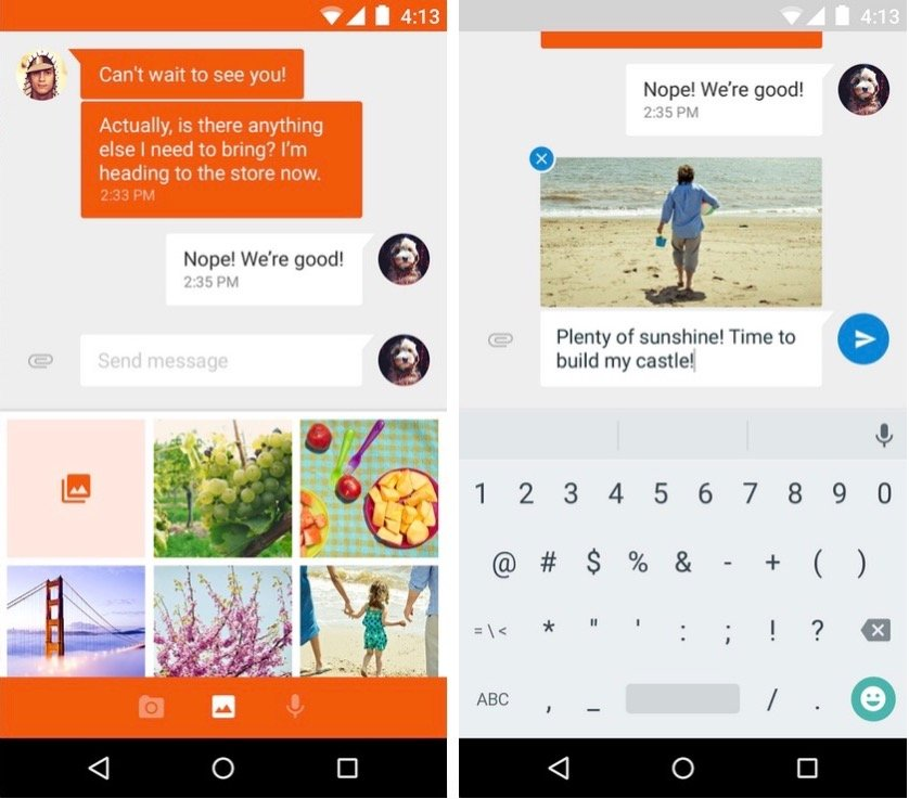 Google's new Messenger app looks awesome. Screenshots: Google