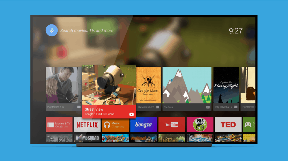 The Android TV Launcher. Photo: Google