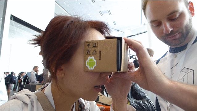 Google Cardboard: VR on the cheap. Photo: Google