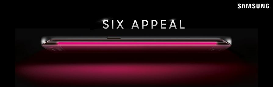 The Galaxy S6 Edge, teased by T-Mobile.