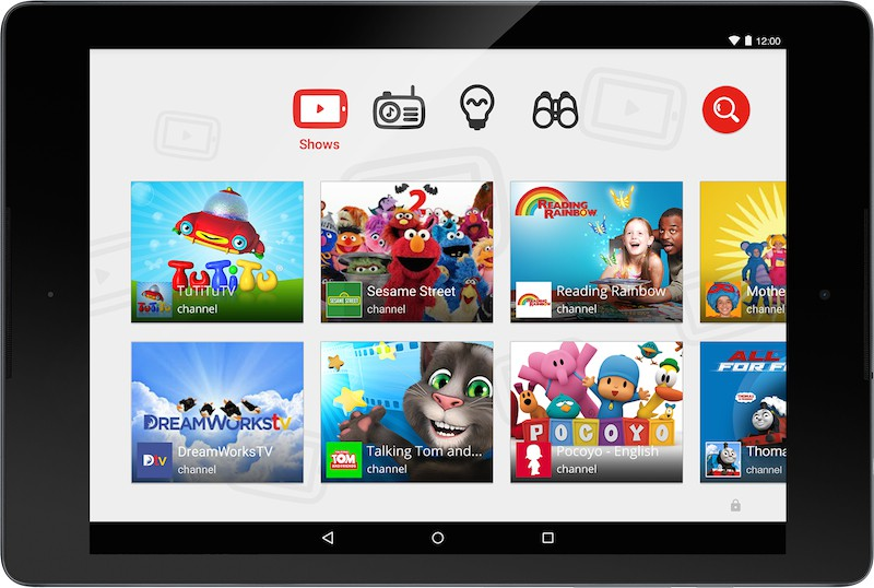 YouTube Kids on an Android tablet. Photo: Google