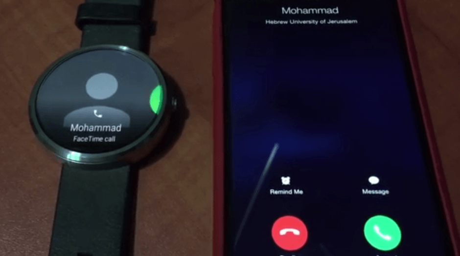 Android Wear and iPhone: a strange but beautiful match. Screenshot: Cult of Android