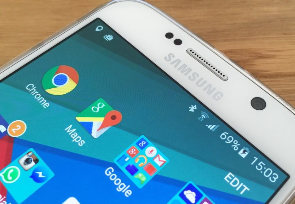 Google apps are pre-installed on the Galaxy S6. Photo: Killian Bell/Cult of Android
