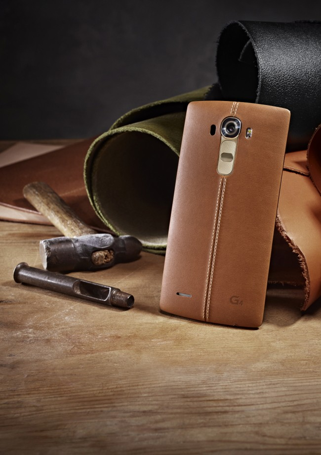 The LG G4's leather stitching is so fine, Steve Jobs would love it. Photo: LG