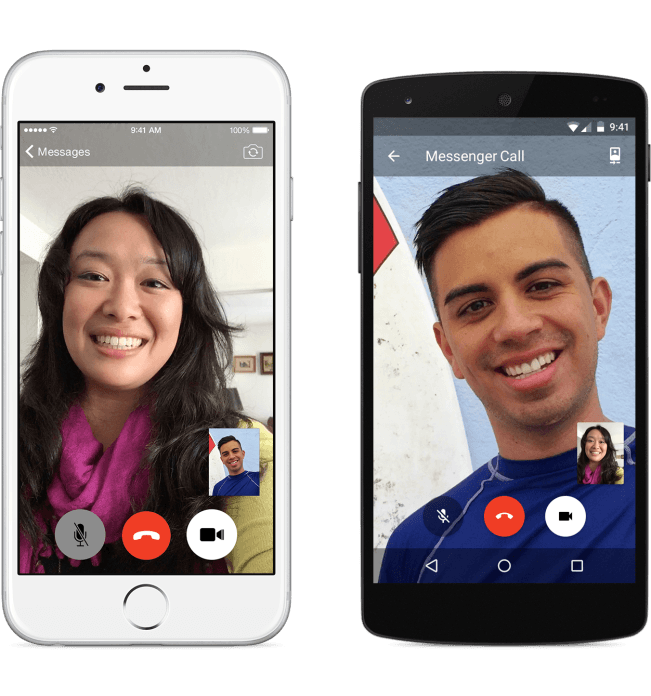 Facebook takes on Skype. Photo: Facebook