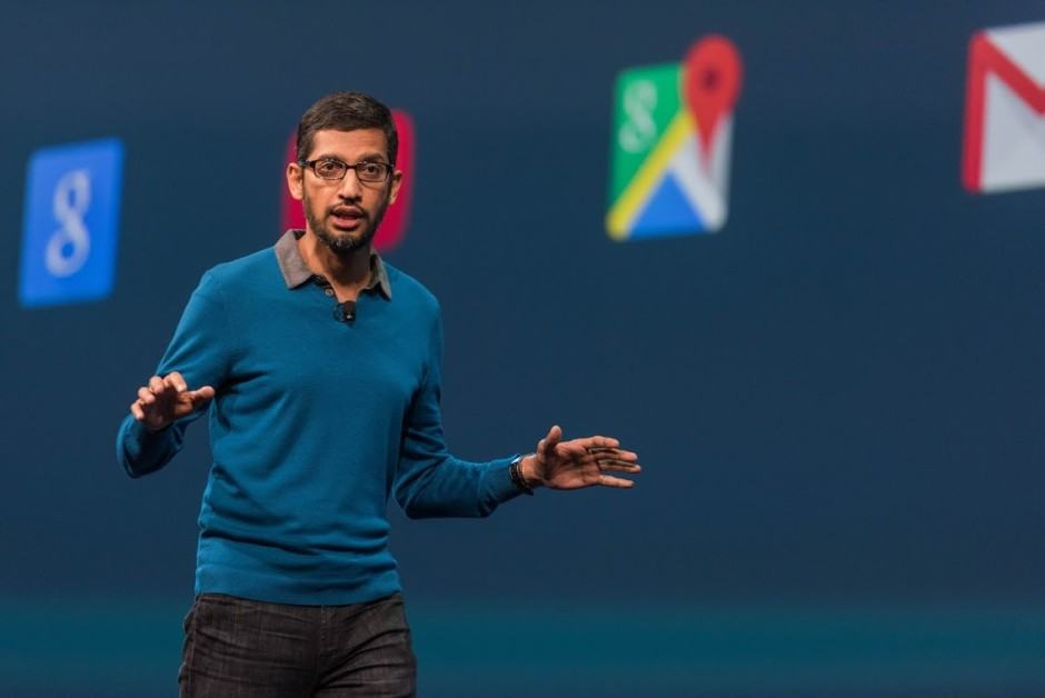 Google CEO Sundar Pichai at Google I/O 2015. Photo: Google