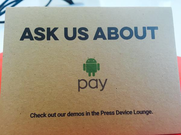 Android Pay confirmed. Photo: @caro_milanesi