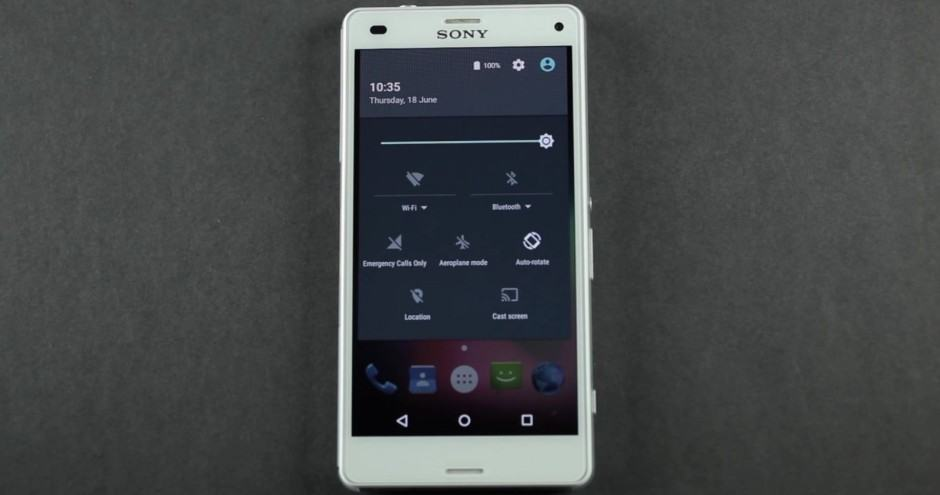 Android M running on an Xperia. Photo: Sony