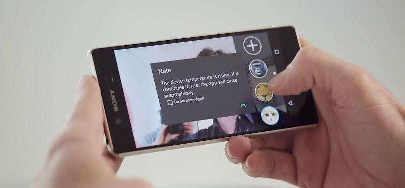 Expect to see this warning if you buy an Xperia Z3+. Photo: AndroidPIT