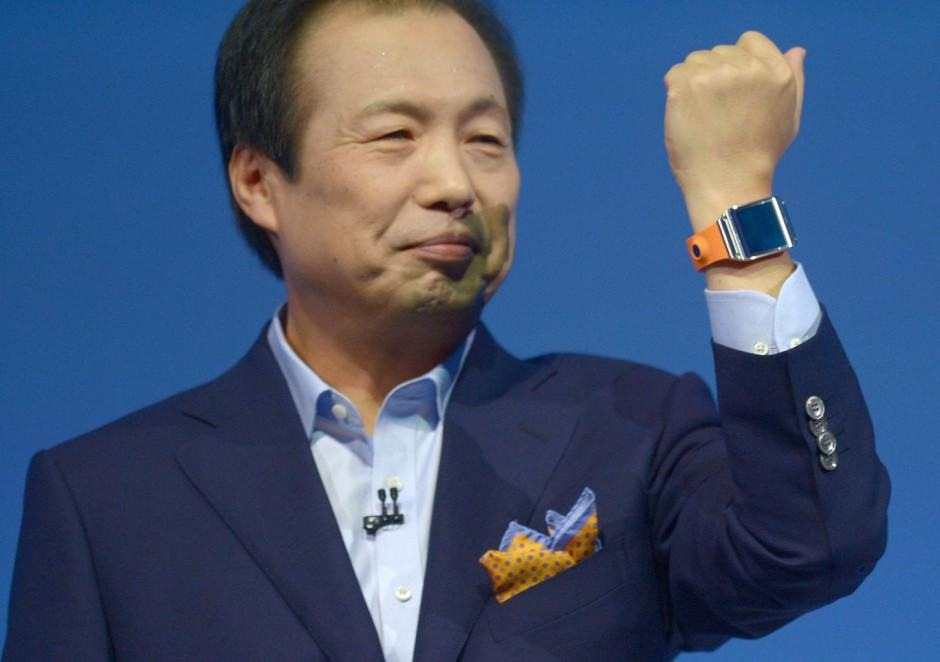 Samsung president JK Shin announces Galaxy Gear. Photo: Samsung