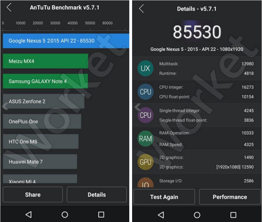 Screenshots: AnTuTu