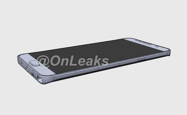 The Galaxy Note 5 looks good in these early design drawings. Photo: OnLeaks