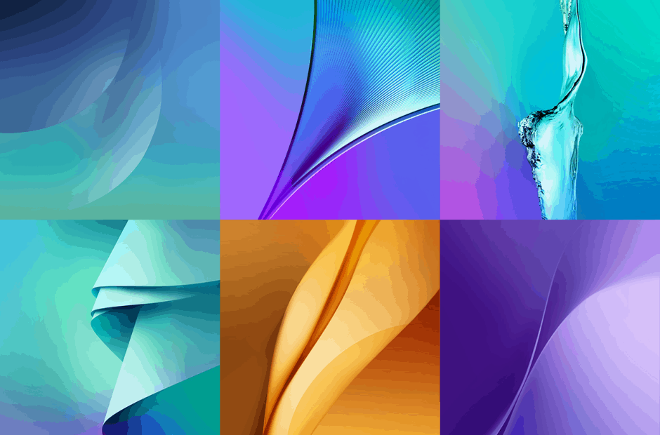 Samsung's official Galaxy Note 5 wallpapers. Photo: Gabri