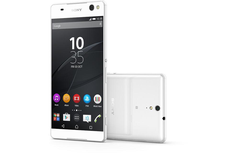 Sony Xperia C5 Ultra in white. Photo: Sony