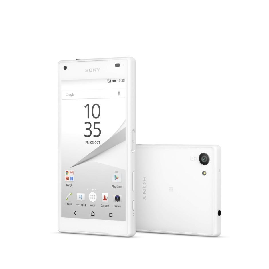 Xperia Z5 Compact all in white. Photo: Sony
