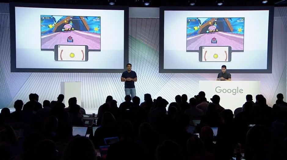 Multi-player gaming in the same room is a great new feature for Chromecast. Photo: Google